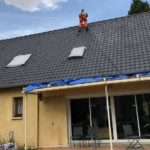 pulverisation toiture peinture ardoise 78
